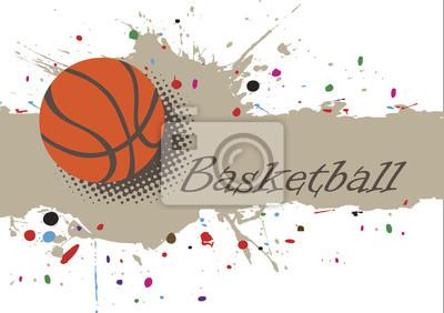 Zusammenfassung splash.Basketball Hintergrund mit bunten Punkten