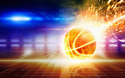 Zusammenfassung Sport Hintergrund - brennenden Basketball