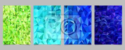 Zusammenfassung Unregelmassigen Dreieck Fliesen Mosaik Flyer Vorlage
