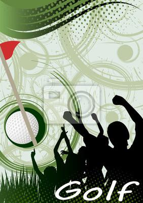 Zusammenfassung vertikale Golf poster.Green Golf Spirale