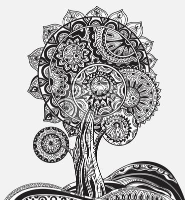 Zusammenfassung Zier-magischer Baum mit viel detailes