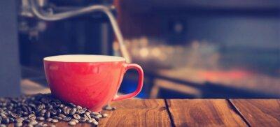 Fototapete Zusammengesetztes Bild der weißen Kaffeetasse