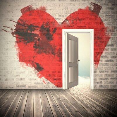 Fototapete Zusammengesetztes Bild des Herzens
