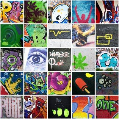 Zusammensetzung graffiti art urbain