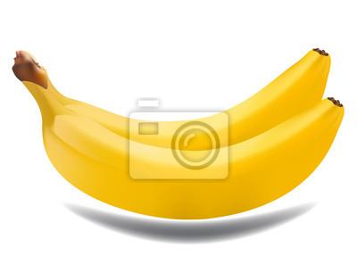 Zwei Bananen auf weißem Hintergrund