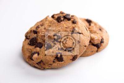 Fototapete zwei Cookies vor weißem Hintergrund