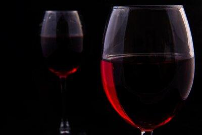 Fototapete Zwei Gläser Rotwein