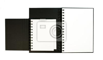 Zwei Notebooks über weiße isoliert