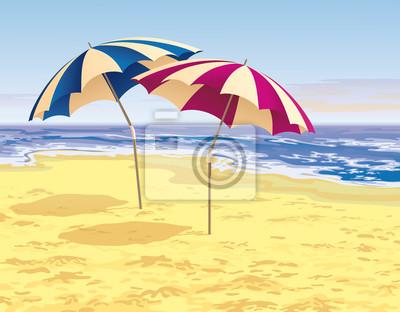 zwei Regenschirme