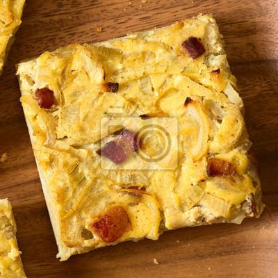 Zwiebelkuchen Ein Herzhafter Kuchen Mit Zwiebeln Speck Und