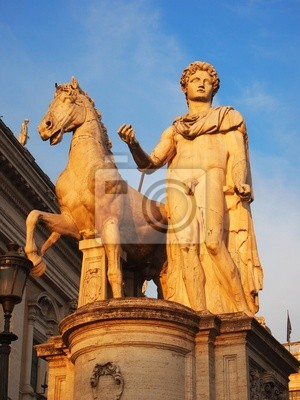 Zwillinge Statue an der Piazza del Campidoglio, Rom