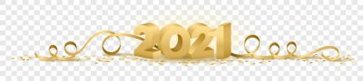 Poster 2021 happy new year vector symbol transparent background isolated