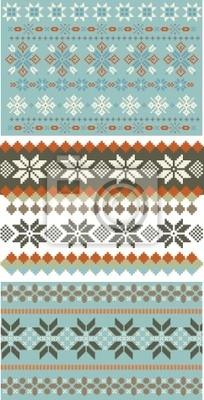 3 Schneeflocke Stricken, Muster