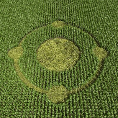 Poster 3D-Darstellung von einem Kornkreis