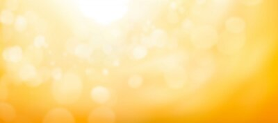 Poster A blurred golden warm yellow and orange abstract sunny summer sky background Illustration.