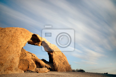 A long exposure of a rock arch in the Naukluft National Park, Namibia.