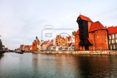A morning view of the old town of Gdansk, Poland