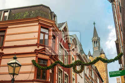 AACHEN, GERMANY - November 19, 2017: Antique building view in Old Town Aachen, Germany