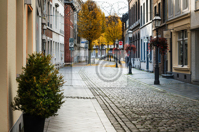 AACHEN, GERMANY - November 19, 2017: Street view of old town in Aachen, Germany