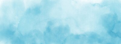 Poster Abstract light blue watercolor for background