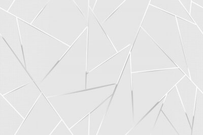 Poster Abstract white chrome lines background