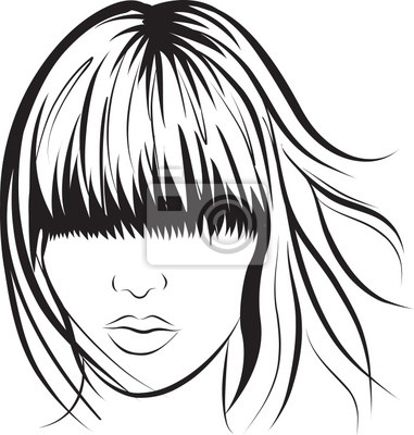 Poster abstract woman face