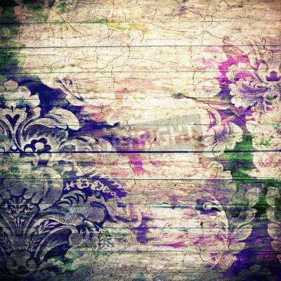 Poster Abstrakt Hintergrund mit alten Grunge-Textur. Für Kunst Textur, Grunge-Design und Vintage-Papier oder Grenze Frame