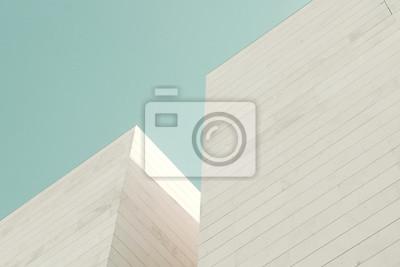 Poster Abstrakte Architektur. Detail einer Gebäudefassade aus Steinblöcken