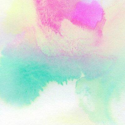 Poster Abstrakte bunte Aquarell gemalten Hintergrund