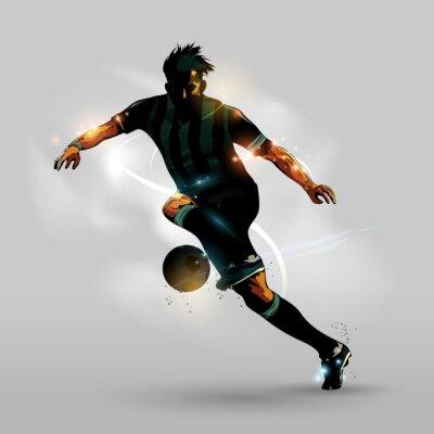 Poster Abstrakte Fußball mit Ball