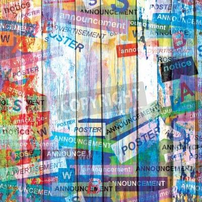 Poster Abstrakte Grunge-Hintergrund