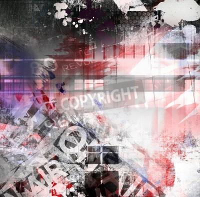 Poster Abstrakte Grunge-Textur, Hintergrund Kunst