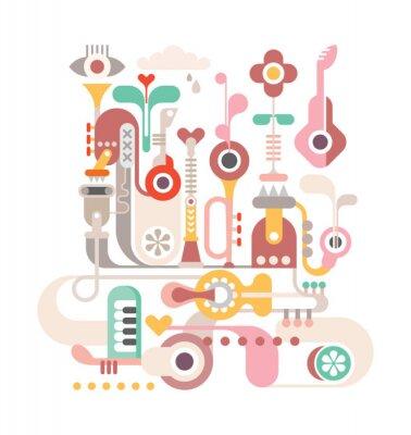 Poster Abstrakte Musik