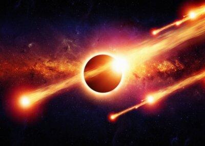 Poster Abstrakten Raum Apokalypse
