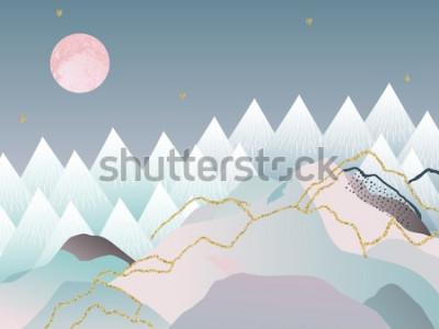 Poster Abstrakter minimaler geometrischer Hintergrund. Japanisches Design. Vektor-illustration Marmor Design