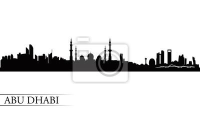 Abu Dhabi Skyline Silhouette Hintergrund