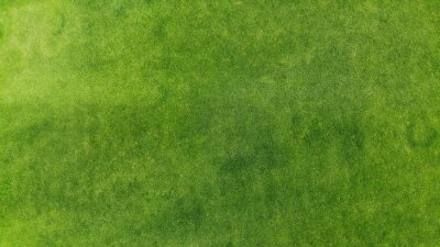 Poster Aerial. Green grass texture background. Top view from drone.