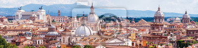 Poster Aerial panoramic view of Rome, Italy