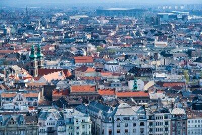 Aerial view of Budapest skyline, Hungary