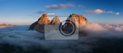 Poster Aerial view of Grohmann spitze, Dolomites, Italy