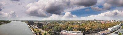 Aerial view of Savannah, Georgia, USA.