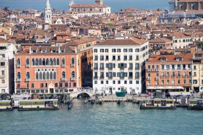 Aerial view of Venice skyline, Italy