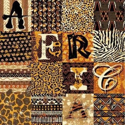 Poster African tapete vektor