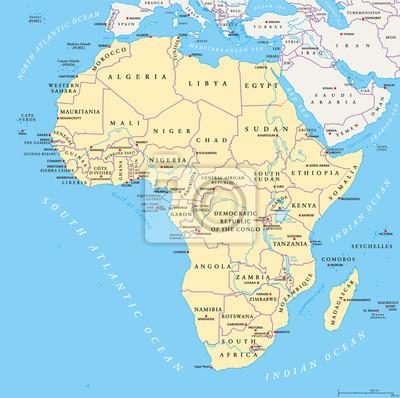 afrika karte flüsse Afrika karte mit großbuchstaben, nationale grenzen, flüsse und  afrika karte flüsse