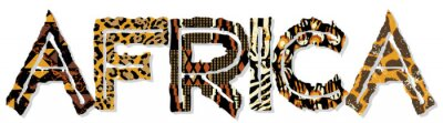 Afrika Patchwork mit Stoff und Haut-Texturen