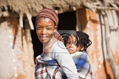 Poster Afrikanischen Familie