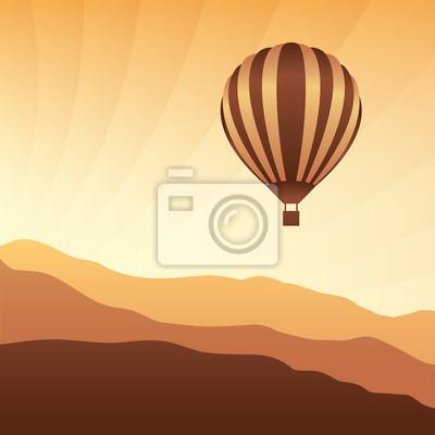 Air Ballon in den Himmel