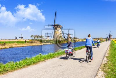 Poster Aktivitäten in der Landschaft Holland