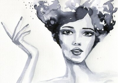 Poster Akwerlowy kobiety