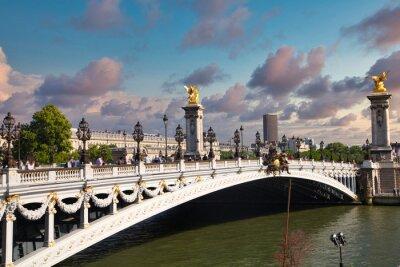 Alexander III bridge in the center of Paris.